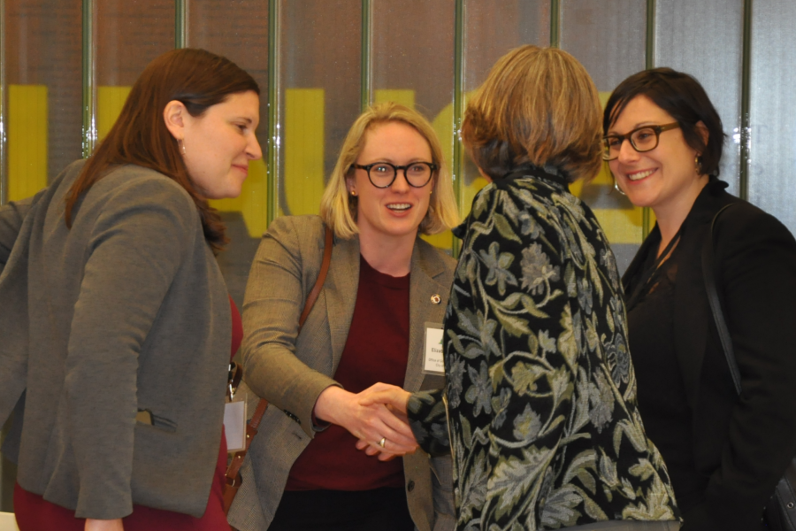 Attendees greeting each other at the Winter 2019 Meeting